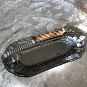 Vintage Silver Plated Tray with handle